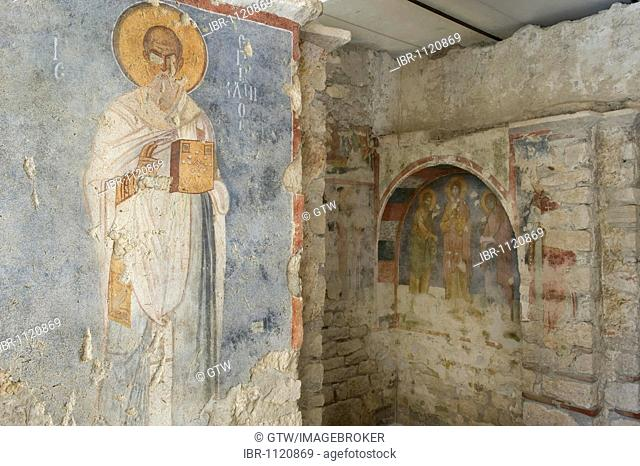 Saint Nicholas church, painted frescos, Demre, Myra, Turkey