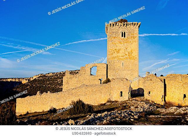 Castle. Ucero. Soria province, Castilla-León, Spain