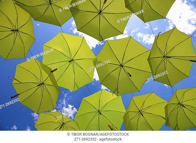 Hungary, Szentendre, umbrellas,