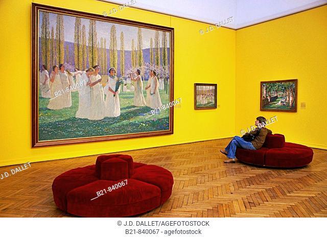 French impressionist painter Henri Martin collection at the Musée des Beaux Arts (Fine Arts Museum), Bordeaux. Gironde, Aquitaine, France