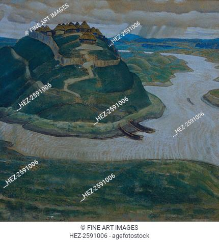 Gorodishche (Old slavic fortified settlement). Found in the collection of the Regional Art Gallery, Tver