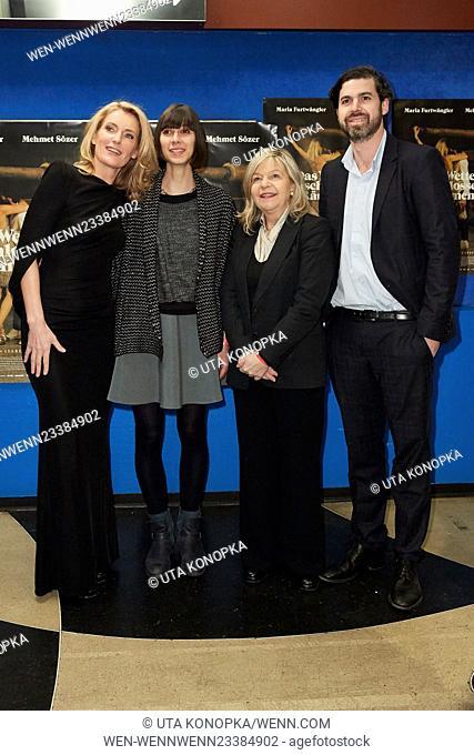 Celebrities at the premiere of the movie Das Wetter in geschlossenen Raeumen Featuring: Maria Furtwängler, Maelle Giovanetti, Barbara Buhl