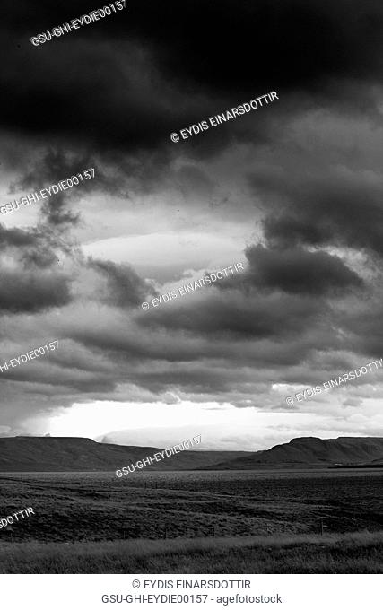 Rural Landscape with Stormy Clouds