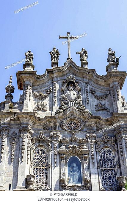 Carmelitas Church and Carmo Church facade detail, in Porto. Portugal