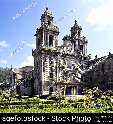 Construction of this National Monument, also known as 'the Galician El Escorial', began during the second half of the 12th century