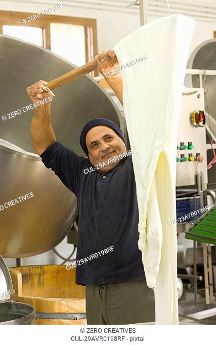 Bison mozzarella production