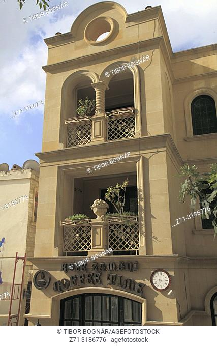 Azerbaijan; Baku, Old City, historic architecture, cafe,