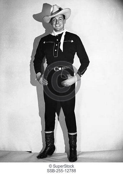 Portrait of a cowboy smiling