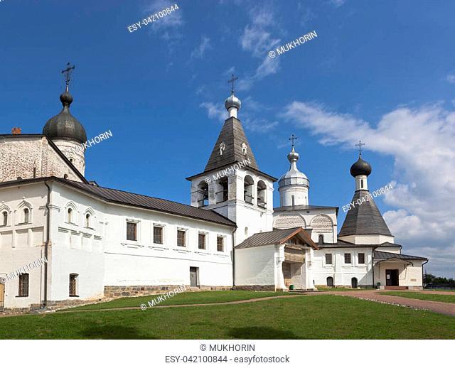 Ferapontovo, Vologda region, Russia - August 9, 2015: Ferapontov Belozersky Monastery of Nativity of the Virgin