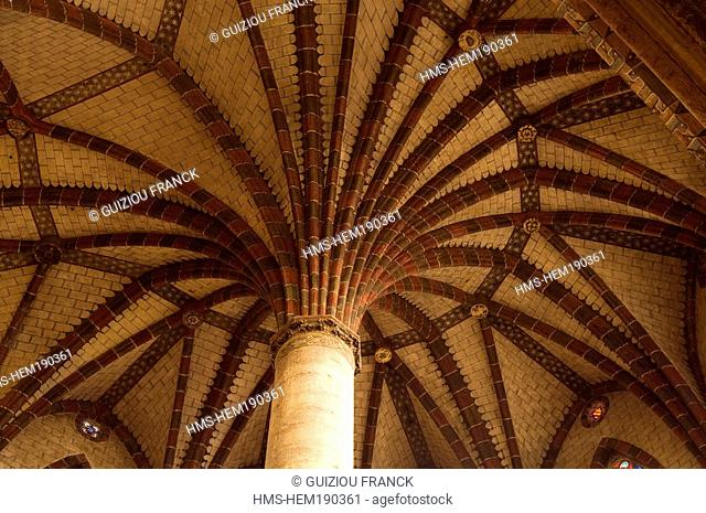 France, Haute Garonne, Toulouse, Couvent des Jacobins Jacobin convent, church 's palm-tree vault