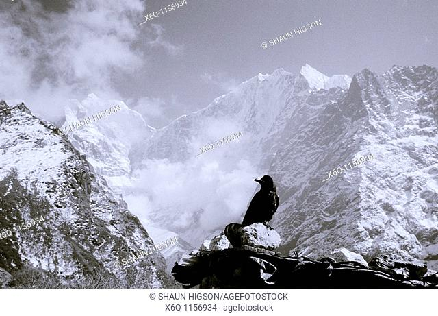 The Himalayan mountains in the Himalayas in Nepal in South Asia