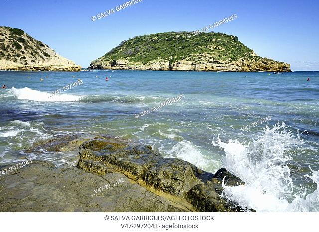 Island of Portixol, Alicante, Valencia, Spain, Europe