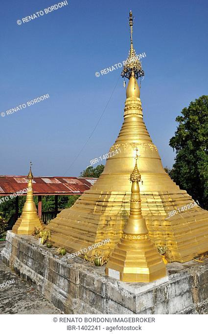 Golden Pagoda, Ngapali Beach, Thandwe, Burma, Myanmar, Southeast Asia
