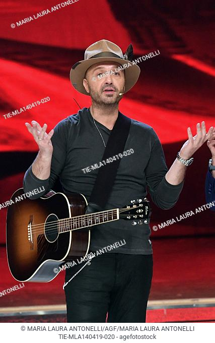 Joe Bastianich during perfomance at the talent show ' Ballando con le stelle ' (Dancing with the stars) Rome, ITALY-14-04-2019