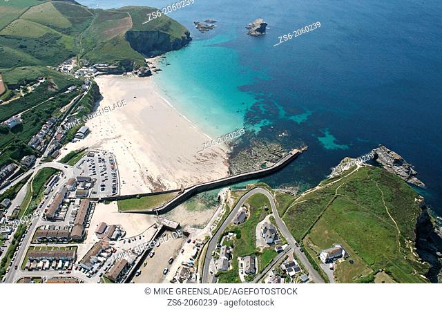 Aerial of Portreath, Cornwall, UK