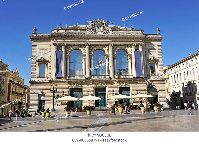Opera, place de la Com�die, City of Montpellier, France