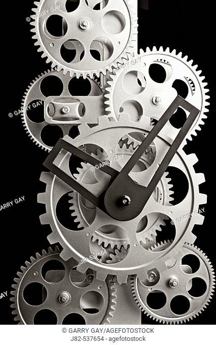 Gear clock close up