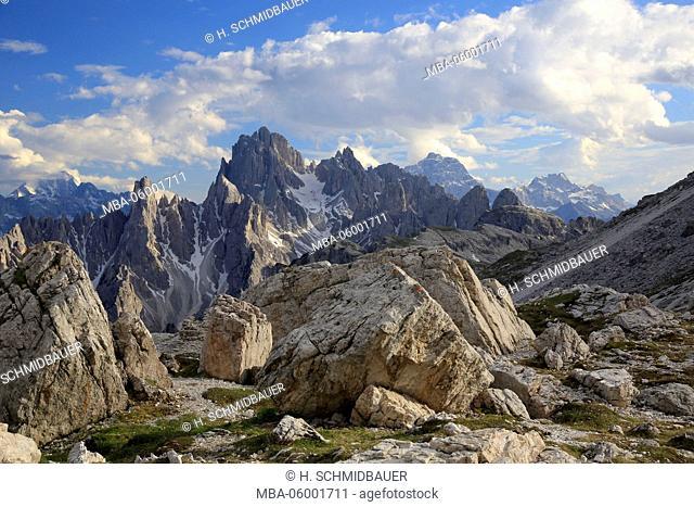 Cadini di Misurina, Sextener Dolomites, province of Belluno, Italy, Europe