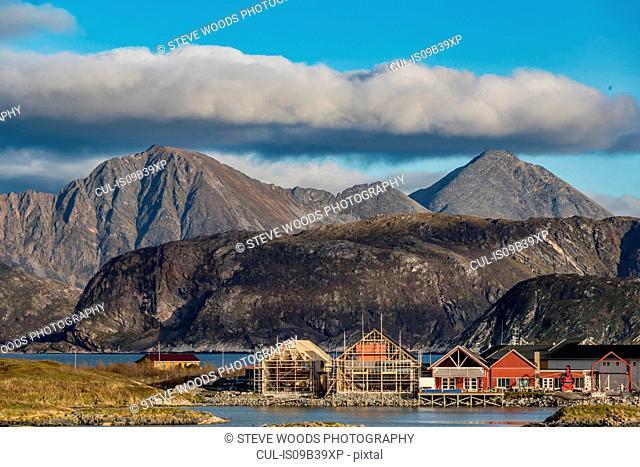View of Sommaroy Island in autumn, Arctic Norway