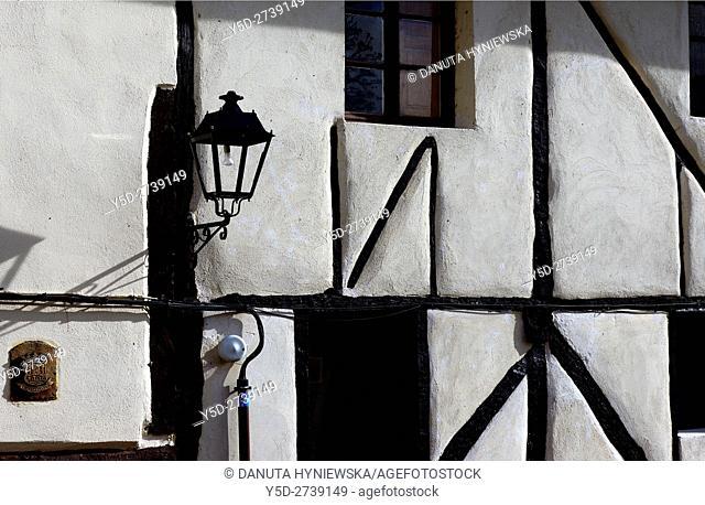 architectural detail, old town of Covarrubias, Ruta del Cid, Burgos province, Castilla-León, Castile and León, Castilla y Leon, Spain, Europe
