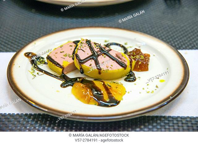 Pork pate with assorted jams and syrup. Salamanca, Spain