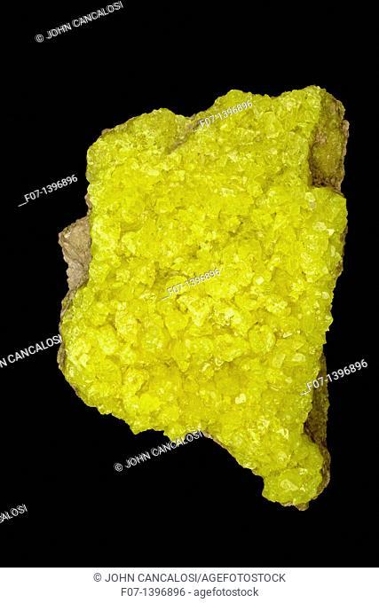 Native Sulphur S - Mina El Desierto - Department Potosi Bolivia - Of great economic importance in fungicidal plant sprays-the vulcanization of rubber and the...