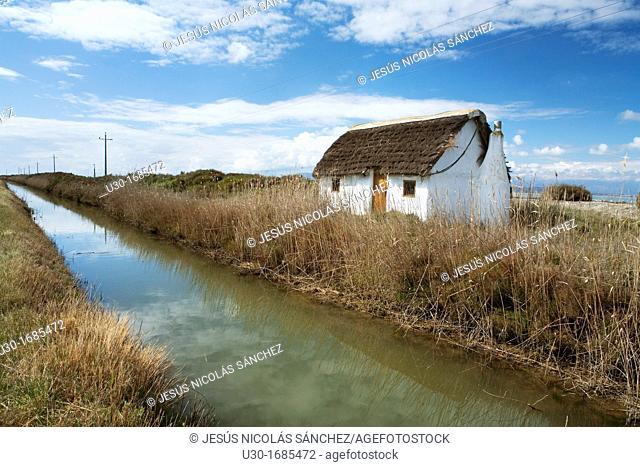 Tipic house of Delta del Ebro Natural Park, in Tarragona province  Catalonia  Spain