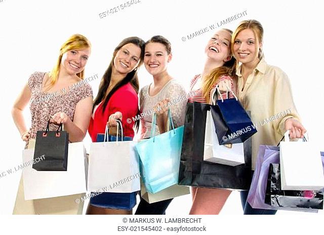 Girlfriends go shopping