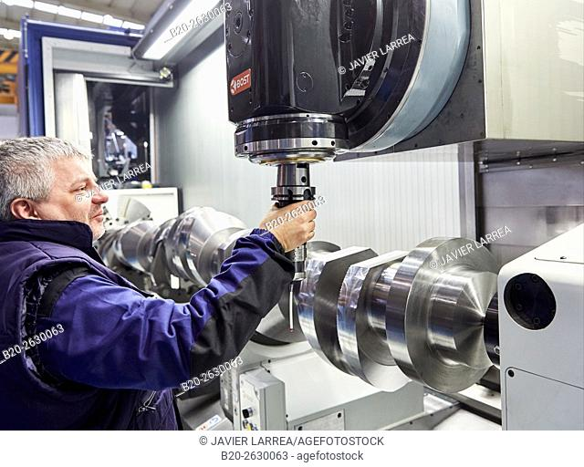 Crankshaft. Machining Center. CNC. Design, manufacture and installation of machine tools. Bost Machine Tools Company. Asteasu. Gipuzkoa