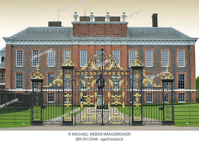 Gate in front of Kensington Palace, Borough of Kensington and Chelsea, London, England, United Kingdom