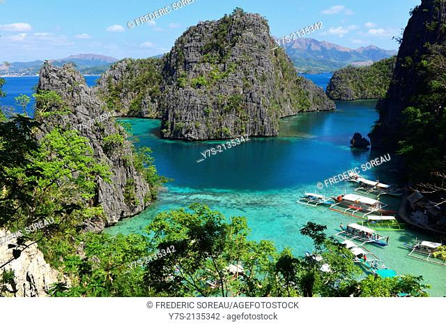 Calamian archipelago in Coron island, Philippines,South East Asia