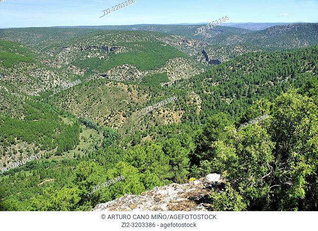 Alto Tajo Natural Park. Huertahernando town, Guadalajara province, Spain