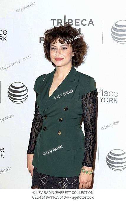 Alia Shawkat at arrivals for THE DRIFTLESS AREA World Premiere at Tribeca Film Festival 2015, Tribeca Performing Arts Center (BMCC TPAC), New York, NY April 18