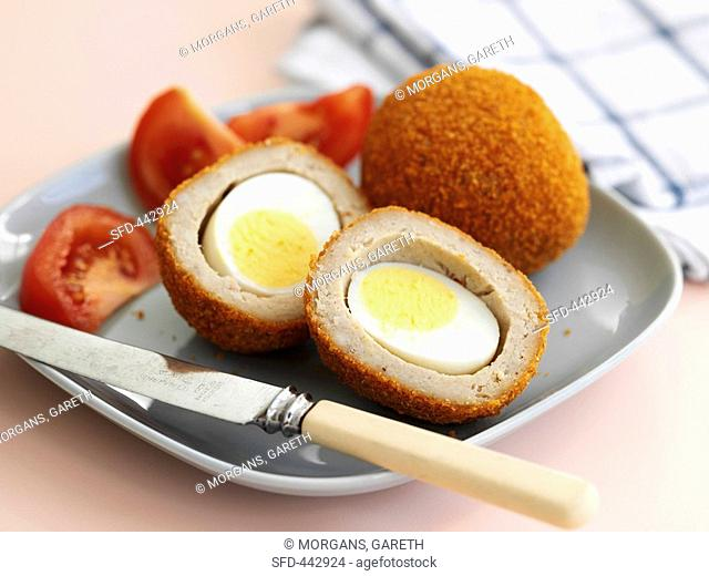 Scotch eggs Hard-boiled eggs wrapped in sausagemeat, UK