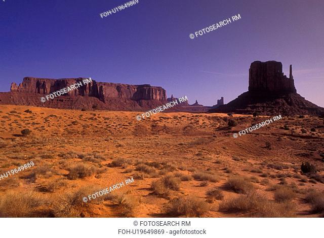 Monument Valley Navajo Tribal Park, AZ, Arizona, The Left/West Mitten Butte