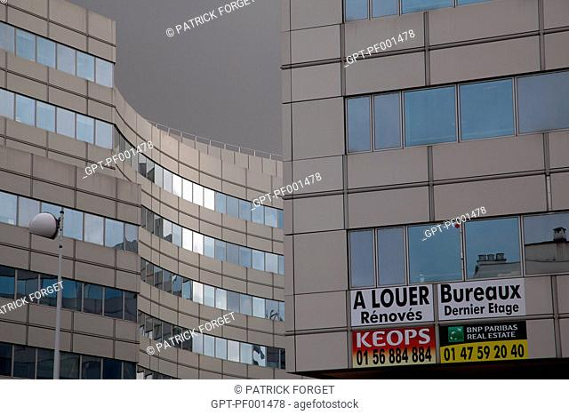 RENTAL OFFICE BUILDINGS, NEIGHBORHOOD OF THE MONTPARNASSE TRAIN STATION, PARIS, FRANCE