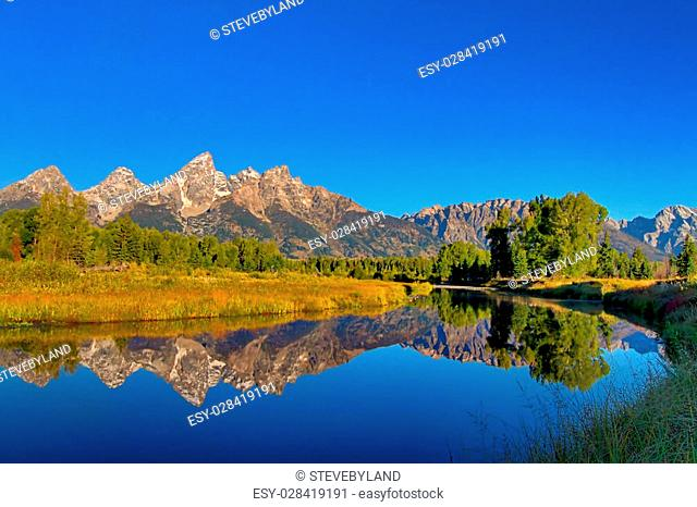 Schwabacher's Landing in the Grand Teton National Park in Wyoming