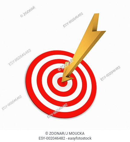 Target and dart or arrow