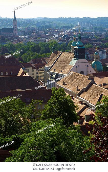 Austria, Styria, Graz, Old Town, Schlossbergplatz., Mausoleum, Herz Jesukirche