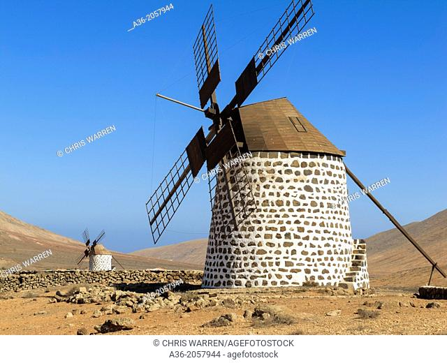 Windmill Villaverde La Oliva Fuerteventura Canary Islands Spain