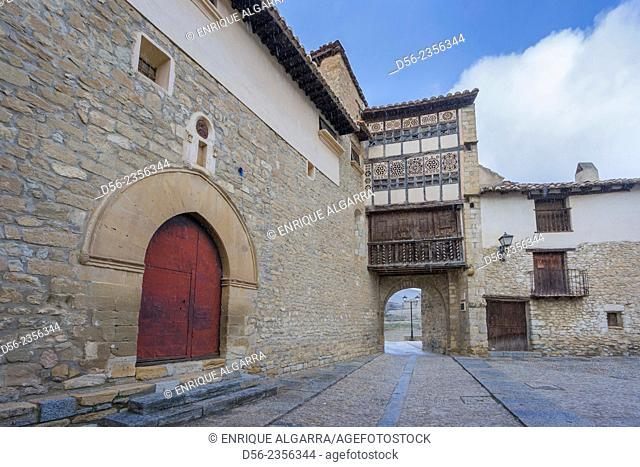 Portal of the Nuns town gate, Mirambell, Maestrazgo, Teruel, Spain