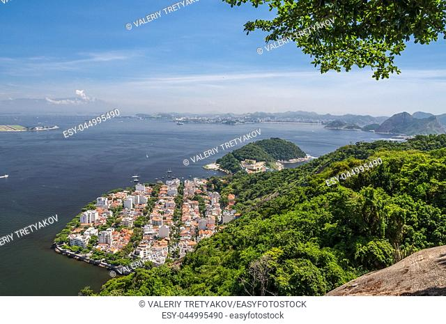 Urca district in Rio de Janeiro Brazil - Located at the bottom of the Sugarloaf