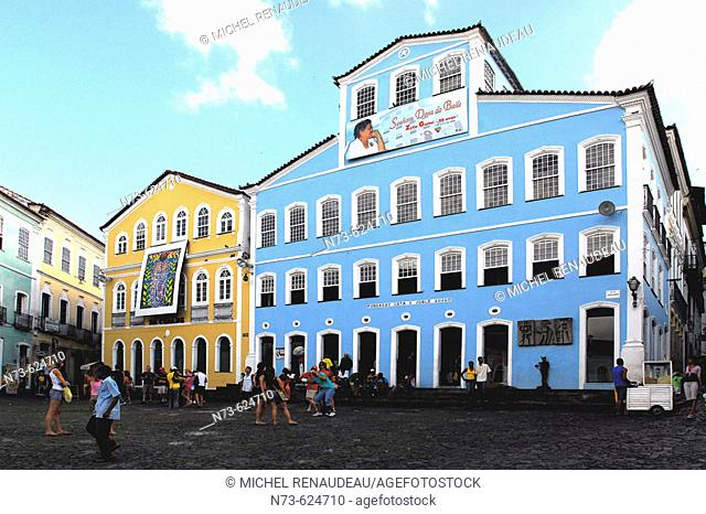 Largo do Pelourinho. Historic quarter of Pelourinho. Salvador da Bahia. Brazil