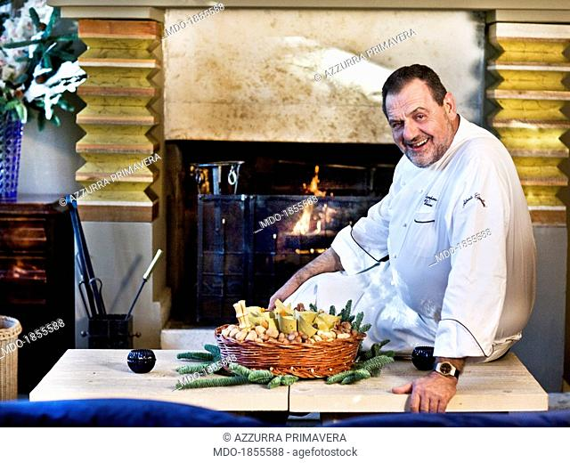 Italian chef Gianfranco Vissani posing for a photocall shooted at his restaurant. Terni (Italy), 29th November 2013