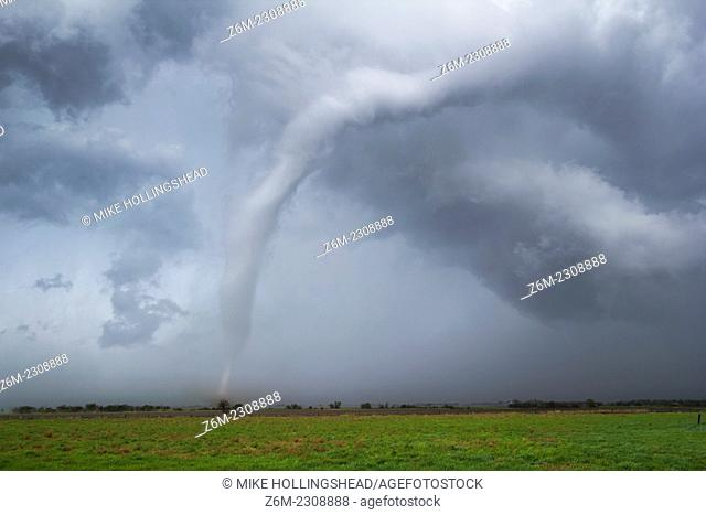Tornado ropes out in central Kansas during an outbreak April 14, 2012