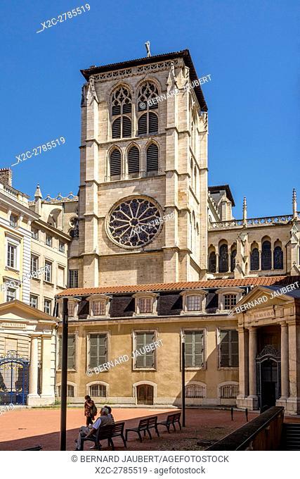 Lyon 5e arr. Cathedral Saint Jean. Lyon. Rhone. France. Europe