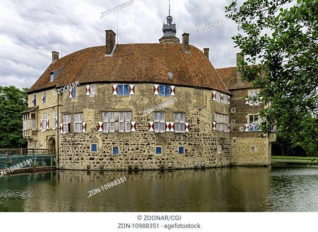 Water castle Vischering, Lüdinghausen, North Rhine-Westphalia, Germany