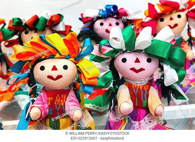 Colorful Lupita Dolls named after Guadalupe Mexico City Mexico Souvenirs
