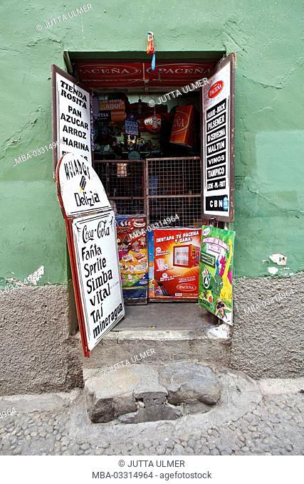 Bolivia, La Paz, food store