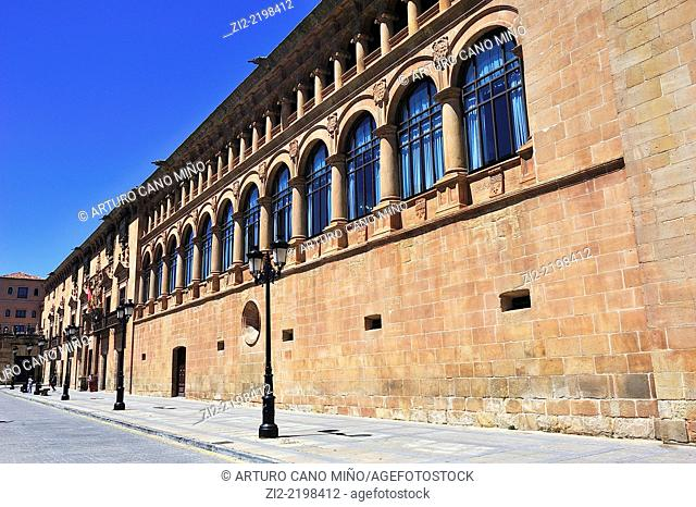 Palace of Condes de Gómara, XVIth century, nowadays is Audiencia Provincial Court of Law, Soria, Spain